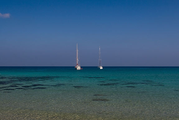 Monastery Bay: a beautiful anchorage with great holding...and sandy beach of course