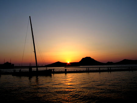 Sunset at Yalikavak Marina